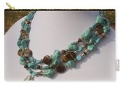 Tiger Eye And Turquoise Triple Strand Necklace 3640 Carry-all Pouch
