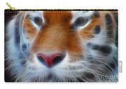 Tiger Face Fractal Carry-all Pouch