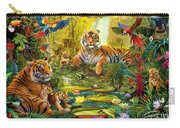 Tiger Family In The Jungle Carry-all Pouch by Jan Patrik Krasny