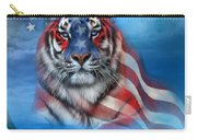 Tiger Flag Carry-all Pouch by Carol Cavalaris