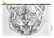 Tiger Head Carry-all Pouch