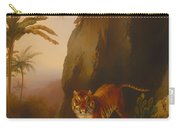 Tiger In A Cave Carry-all Pouch