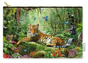 Tiger In The Jungle Carry-all Pouch