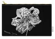 Tiger Lily In Black And White Carry-all Pouch