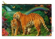 Tiger Love Tropical Carry-all Pouch
