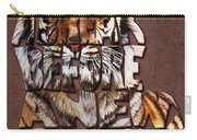 Tiger Majesty Typography Art Carry-all Pouch