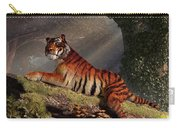 Tiger On A Log Carry-all Pouch by Daniel Eskridge