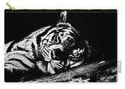 Tiger R And R Black And White Carry-all Pouch