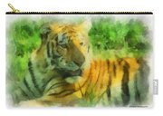 Tiger Resting Photo Art 01 Carry-all Pouch