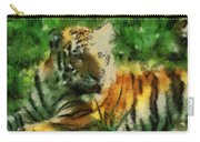 Tiger Resting Photo Art 03 Carry-all Pouch