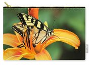 Tiger Swallowtail Butterfly On Daylily Carry-all Pouch