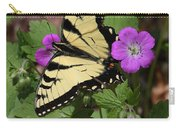 Tiger Swallowtail Butterfly On Geranium Carry-all Pouch
