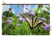 Tiger Swallowtail On Pincushion Flowers Carry-all Pouch