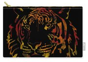 Tiger Watercolor - Black Carry-all Pouch