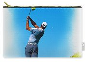 Tiger Woods Plays His Tee Shot On The 15th Hole Carry-all Pouch
