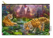 Tigers At The Ancient Stream Carry-all Pouch by Jan Patrik Krasny