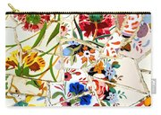 Tile Work In The Antoni Gaudi Park Barcelona Carry-all Pouch