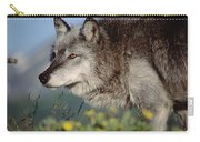 Timber Wolf Adult Portrait North America Carry-all Pouch