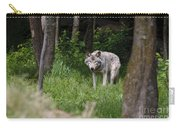 Timber Wolf In Forest Carry-all Pouch