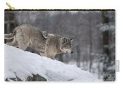 Timber Wolf On Hill Carry-all Pouch