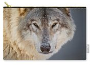 Timber Wolf Seasons Greeting Card 21 Carry-all Pouch