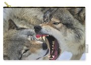 Timber Wolves Play Carry-all Pouch