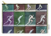 Time Lapse Motion Study Man Running Color Carry-all Pouch