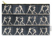 Time Lapse Motion Study Men Boxing Carry-all Pouch