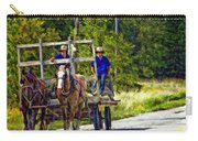 Time Travelers Impasto Carry-all Pouch