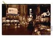 Times Square At Night - In Copper Carry-all Pouch