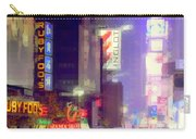 Times Square At Night - Columns Of Light Carry-all Pouch