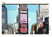 Times Square Nyc Cartoon-style Carry-all Pouch