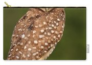 Tiny Burrowing Owl Carry-all Pouch