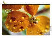 Tiny Dew Drop On Wild Flower Macro Carry-all Pouch
