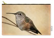 Tiny Hummingbird Resting Carry-all Pouch