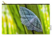 Tiny Moth On A Blade Of Grass Carry-all Pouch by Bob Orsillo