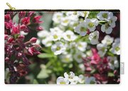 Tiny Pink And Tiny White Flowers Carry-all Pouch