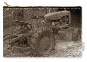 Tired Tractor...... Sepia Carry-all Pouch