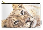 Tired Young Lion Carry-all Pouch