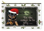 'tis The Season To Be Jolly Holiday Greetings Carry-all Pouch