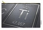 Titanium Chemical Element Carry-all Pouch