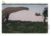 Titanosaurus Standing Grazing In Swamp Carry-all Pouch