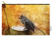 Titmouse In The Rain Carry-all Pouch