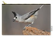 Titmouse Preparing For Takeoff Carry-all Pouch