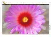 To Return To Innocence. Cactus Flower Carry-all Pouch by Jenny Rainbow