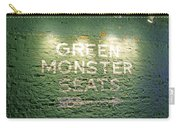 To The Green Monster Seats Carry-all Pouch by Barbara McDevitt