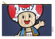 Toad From Mario Brothers Nintendo Original Vintage Recycled License Plate Art Portrait Carry-all Pouch