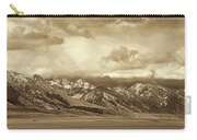 Tobacco Root Mountain Range Montana Sepia Carry-all Pouch by Jennie Marie Schell
