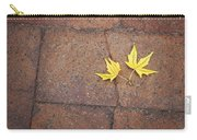 Together Yellow Maple Leaves Carry-all Pouch