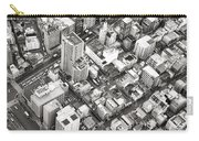 Tokyo City Black And White Carry-all Pouch